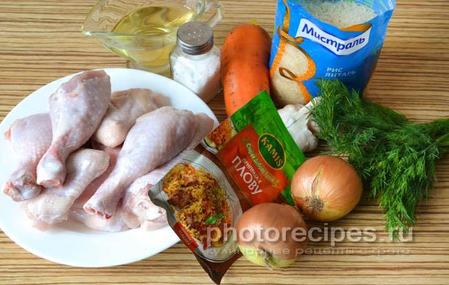 плов из курицы в духовке рецепт с фото пошагово