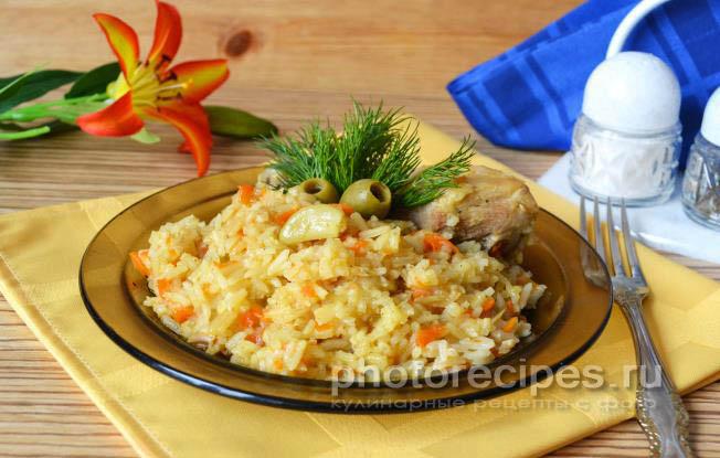 плов из курицы рецепт с фото пошагово в духовке