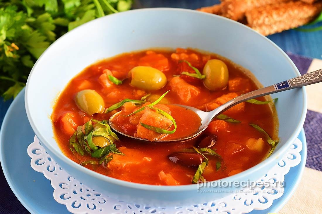 томатный супы из лосося рецепт