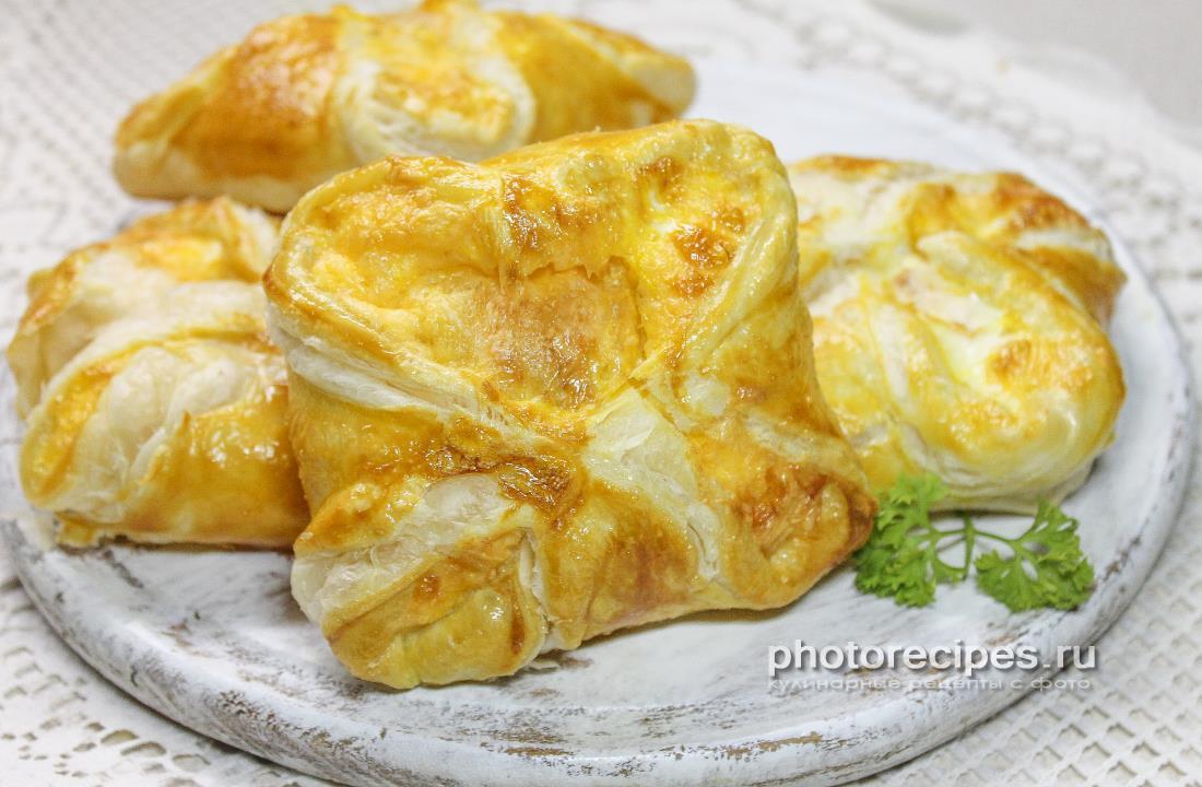 Слойки с сыром а-ля хачапури
