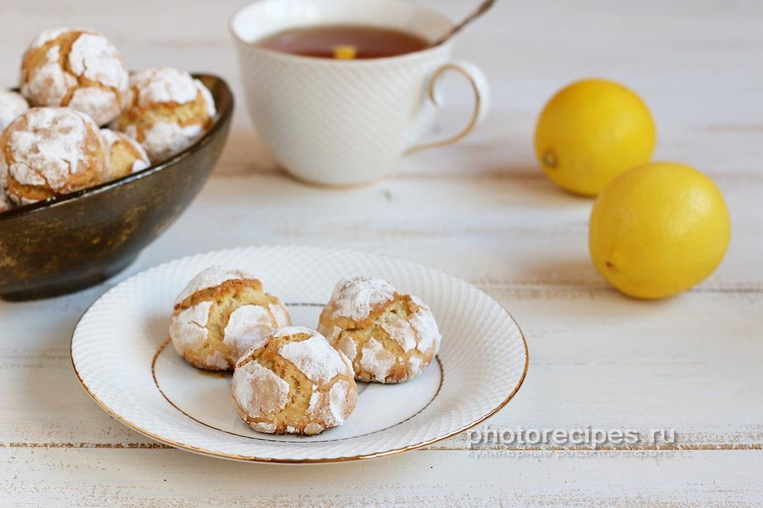 Лимонное печенье Трещинки