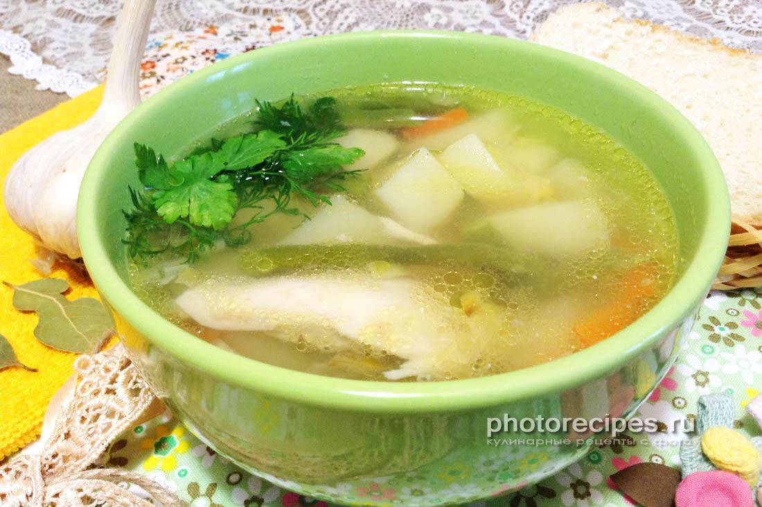 Гороховый суп со стручковой фасолью