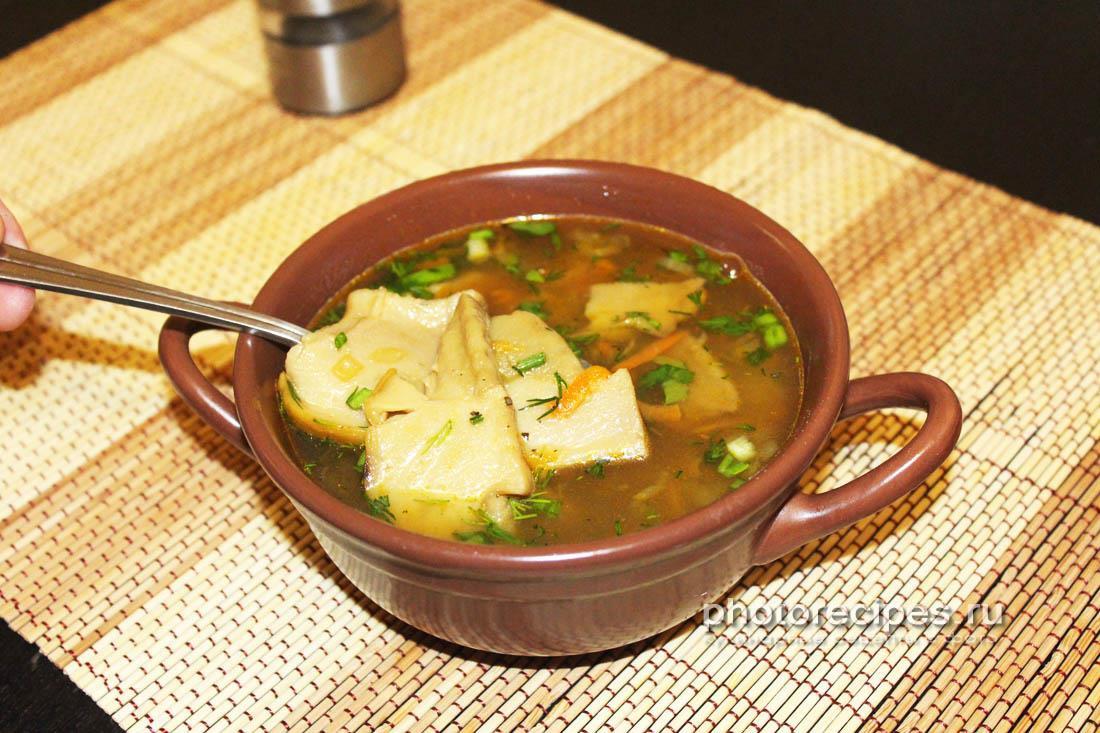 Суп из сушеных белых грибов