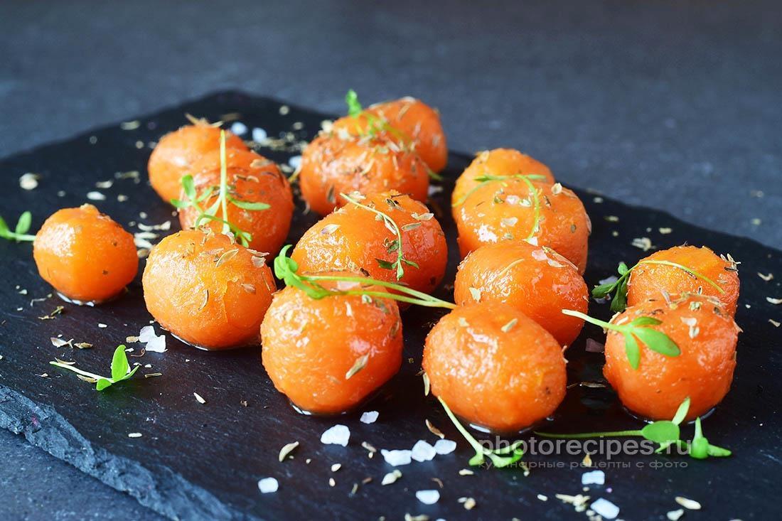 Глазированная морковь с медом