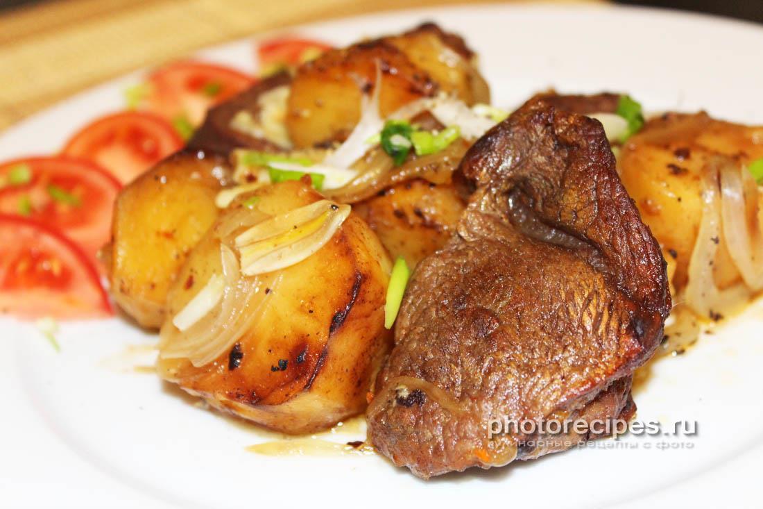 Жаркое из лосятины с картошкой
