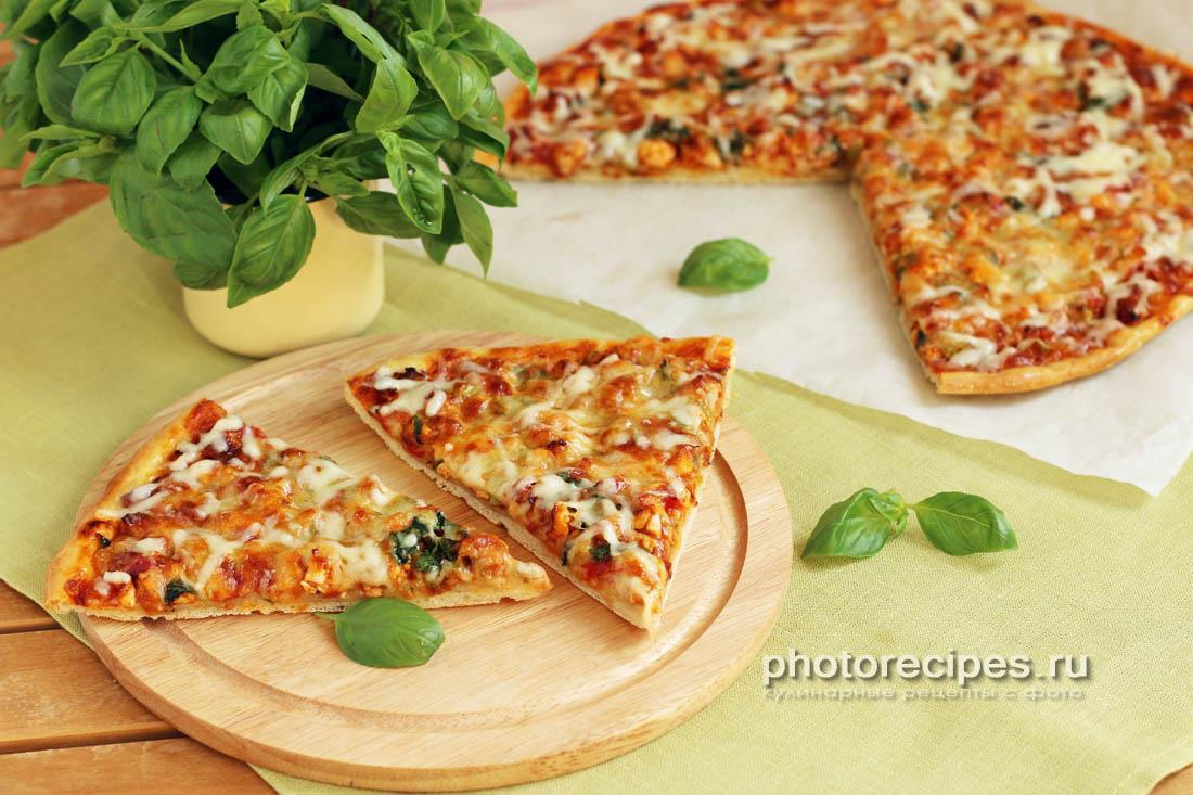 Пицца с куриным фаршем