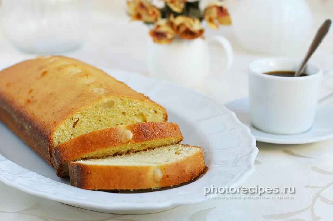 Миндальный кекс с кукурузной мукой