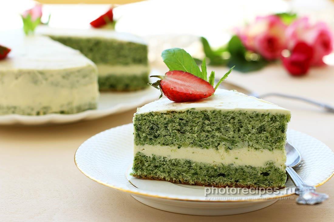Бисквит для торта изумрудный
