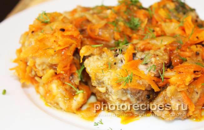Рецепт тушеный минтай с луком и морковью и майонезом