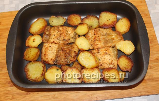Стерлядь в духовке с картофелем рецепт пошагово