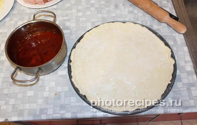 Тесто для пиццы пошаговый рецепт с фото