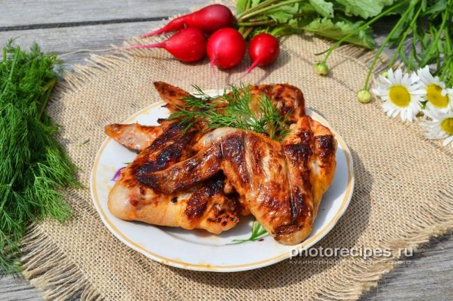 Шашлык из крылышек рецепт с фото