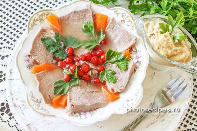заливной язык свиной рецепт фото