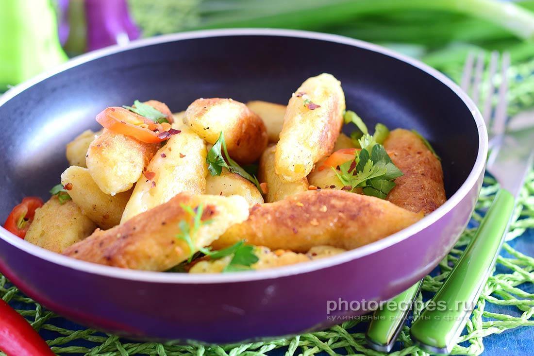 Картофельные  пальчики  по - баварски